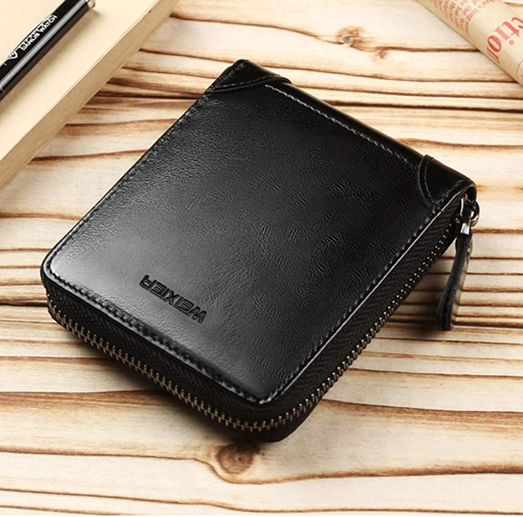 AMOUSTORE Large Womens Wallet Leather Vintage Ladies Credit Card Clutch Wallets for Women with Tassel Gray