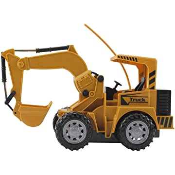 Button cotton 5 Channel Full Functional Front Loader RC Remote Control Construction Tractor Toy