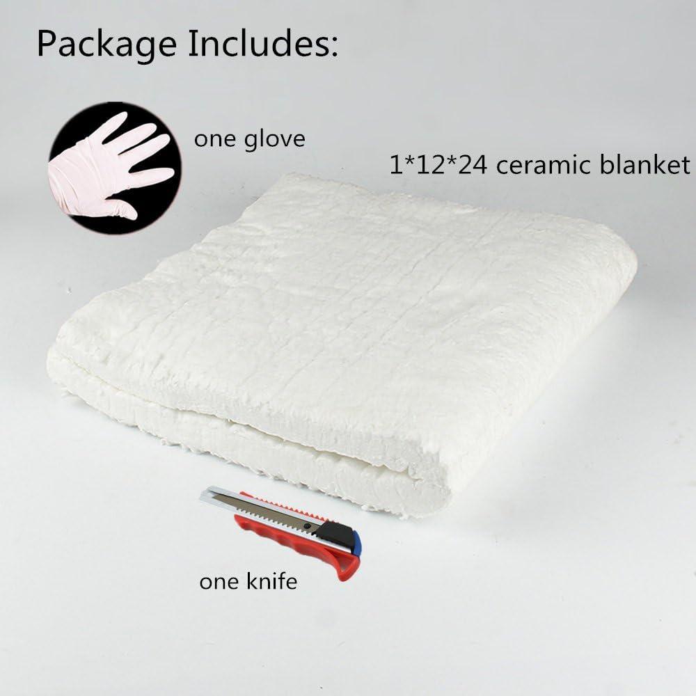 HM/&FC 1x 12x 24 Ceramic Fiber Insulation Blanket 2400F
