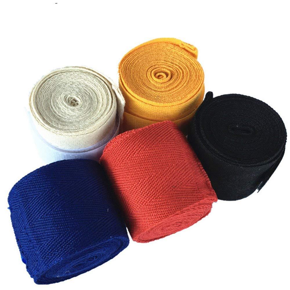Emily Width 5cm Length 2.5M Cotton Sport Strap Sanda Muay Hand Wraps Boxing Bandage black