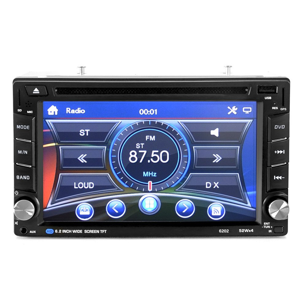 ExGizmo 6.2'' Double 2DIN In Dash GPS Navigation Car DVD Touch Screen Player Bluetooth Auto Stereo Radio + Camera by ExGizmo (Image #5)