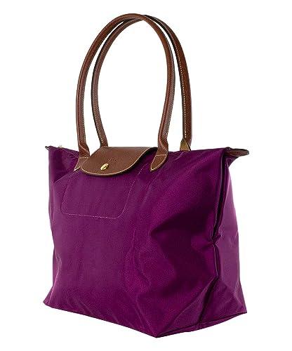 474c65c9649 Longchamp Le Pliage Large Handbag Purple Dahlia Bag New: Handbags:  Amazon.com