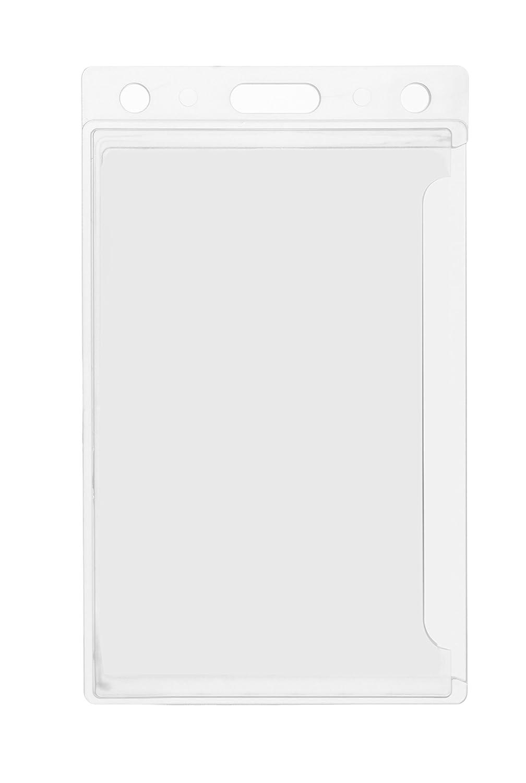 Karteo/® Ausweish/ülle Ausweish/üllen Kartenh/ülle Kartenh/üllen Ausweishalter Kartenhalter Halter aus Plastik Hartplastik transparent f/ür 1 eine Karte Ausweise Kreditkarten Dienstausweise EC Karte Bankkarten Gesundheitskarten mit D