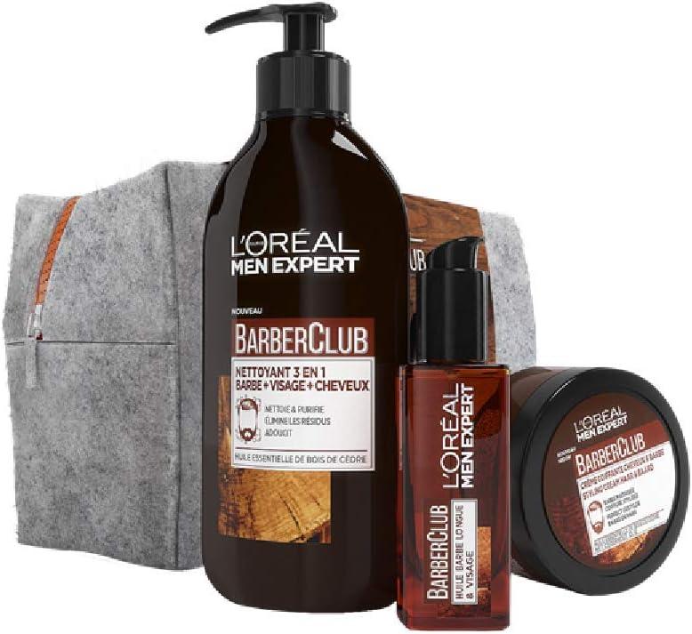 L Oréal Men Expert Barber Club – Estuche 3 productos – – Juego de 4: Amazon.es: Belleza