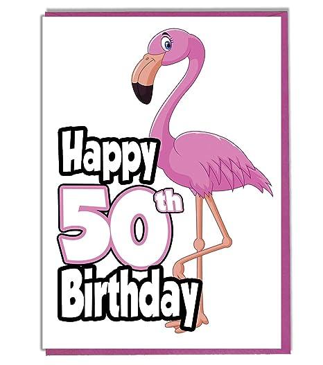 Tarjeta de felicitación de 50 cumpleaños con diseño de ...