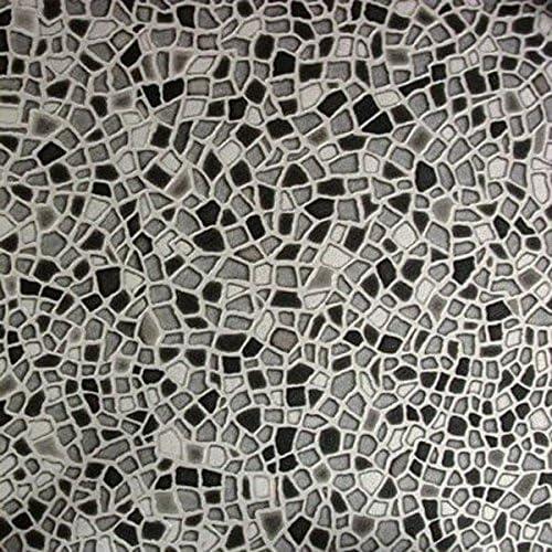 L/änge variabel Meterware Gr/ö/ße:20x20 cm livingfloor/® PVC Vinyl Bodenbelag Mosaik Steine grau in 2 m Breite