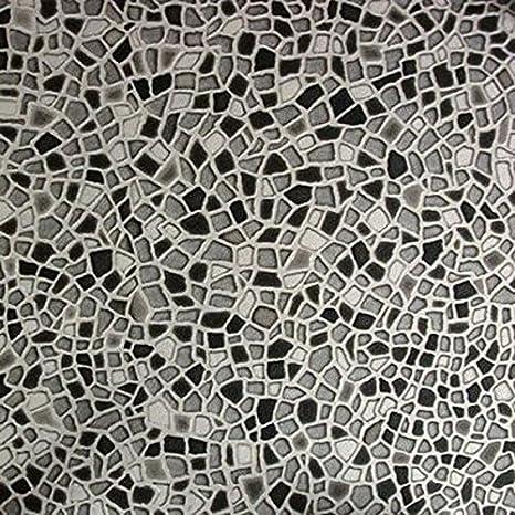 Gr/ö/ße:1.50x2.00 m livingfloor/® PVC Vinyl Bodenbelag Mosaik Steine grau in 2 m Breite L/änge variabel Meterware
