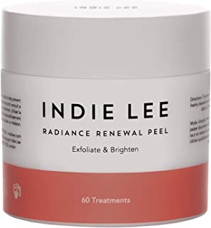 product image for Indie Lee Radiance Renewal Peel - Exfoliating Anti Aging Wipes with Beta Carotene, Alpha Hydroxy Acid + Citrus Extract - Cleansing Face Pads for Brighter Looking Skin (60 Pads)