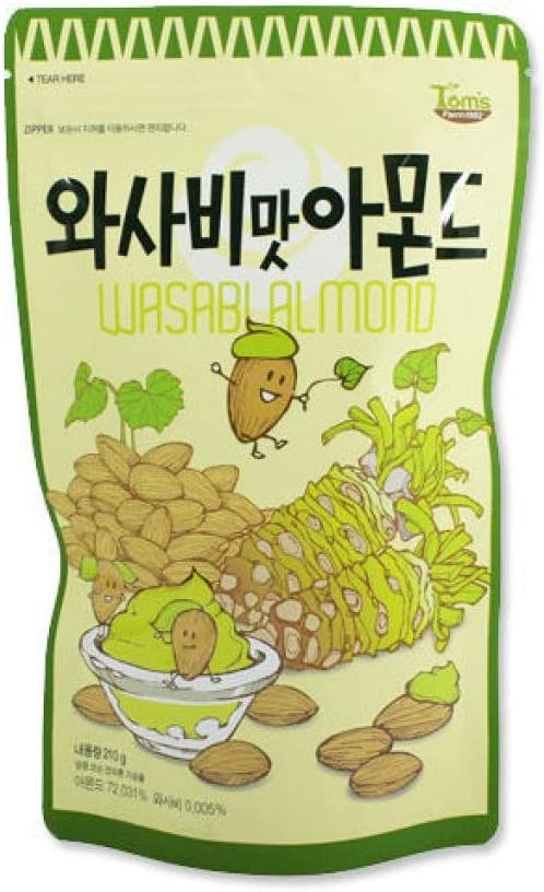 わさび味 アーモンド 210g X 1袋 Honey Butter Armond
