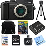 Panasonic DMC-GX8SBODY LUMIX GX8 4K Interchangeable Lens Camera Body Bundle includes Camera, Gadget Bag, Training DVD, 32GB SD Card, Battery, Microfiber Cloth, Card Reader, Tripod & Screen Protectors