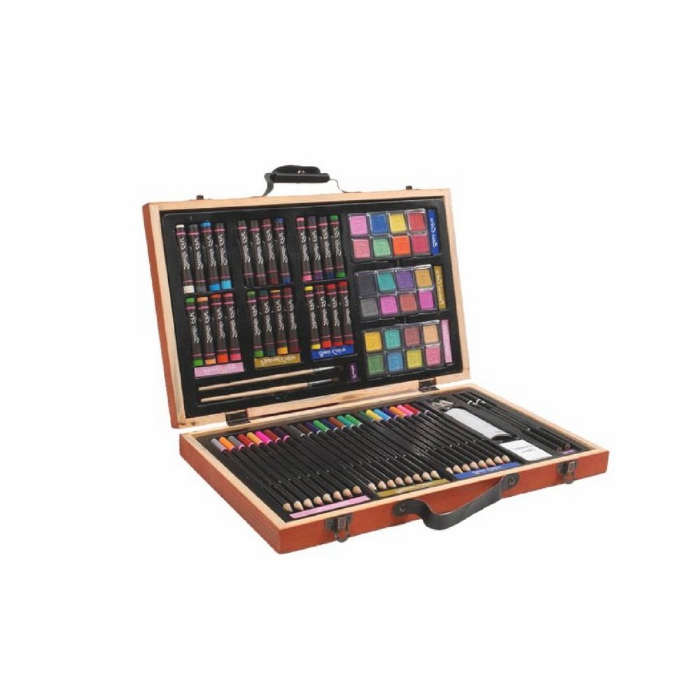 Sketching Pencil Set, Premium Quality, Set of 80 Pieces, Wooden Case, Ideal for Beginners and Advanced, Accessories and Brushes Included & E-Book Home Decor