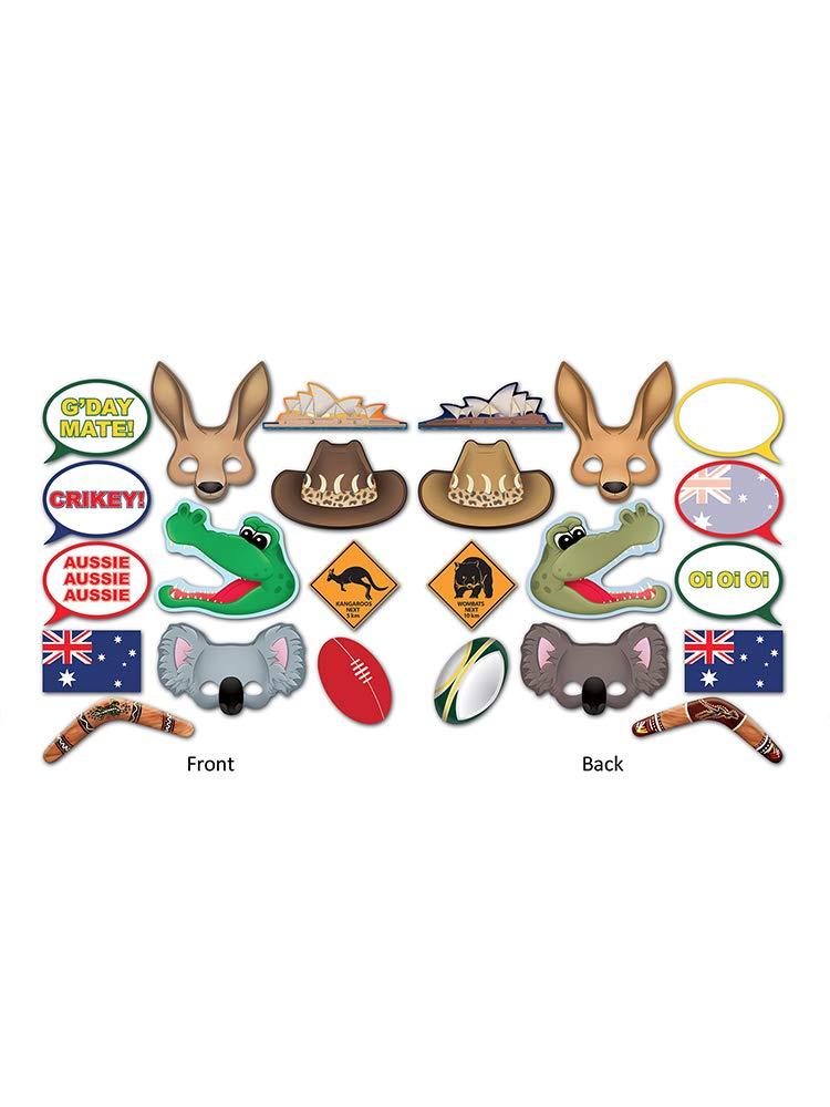 INFLATABLE AUSSIE KANGAROO BLOW UP FANCY DRESS KIDS PARTY 70CM AUSTRALIAN FLAG