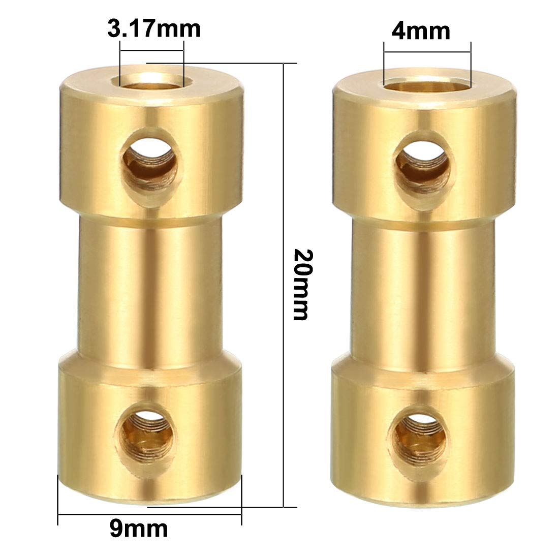 sourcing map Wellenkupplung 3mm x 5mm Stecker Adapter f/ür RC Flugzeug Boot Motor L25XD10 DE de