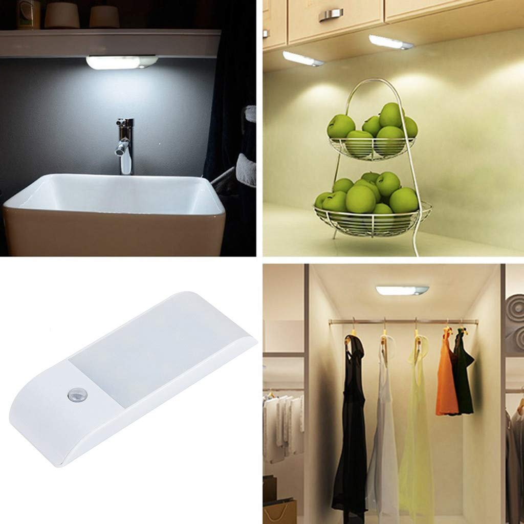 Quaanti Motion Sensor Light, LED Cupboard Light, Motion Sensor Wardrobe Light Portable Wireless Safe Light ON/Off/AUTO Mode Magnetic Install Anywhere for Cabinet/Closet (1PC) by Quaanti (Image #2)