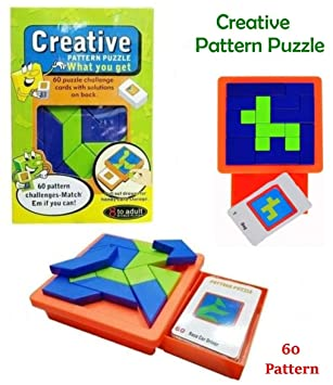 Creative Pattern Puzzle Blocks, Learning & Educational Pattern Puzzle Toys Set for Kids (Multicolor)