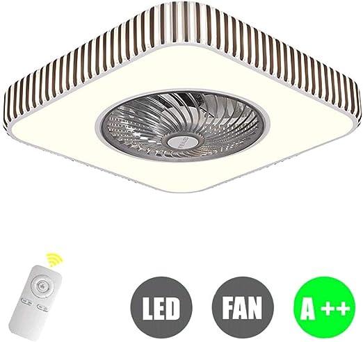 Moderno montaje empotrado Atenuación LED Ventilador de techo, con ...
