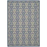 Cheap Safavieh Courtyard Collection CY5149C Blue and Ivory Indoor/Outdoor Area Rug (5'3″ x 7'7″)