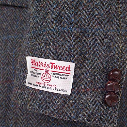 Ckeck Giacca patrick Uomo Blue Trapuntata Tweed 3955 P Harris Hebrides TEwz7qFq