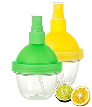 tadachef limón Manual exprimidor pulverizador - Citrus Lime zumo de frutas Mister Spritzer Spray Gadget con recipiente para ensalada saludable, ...