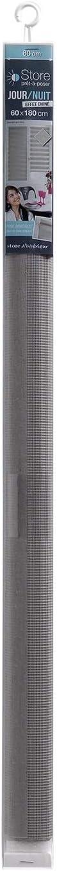 store dint/érieur store enrouleur jour et nuit 60x180 cm polyester daynight gris chine