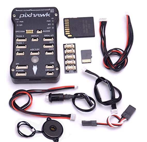 Readytosky Pixhawk PX4 Flight Controller Autopilot PIX 2 4 8 32 Bit Flight  Control Board+Safety Switch+Buzzer+I2C Splitter Expand Module+16GB SD Card