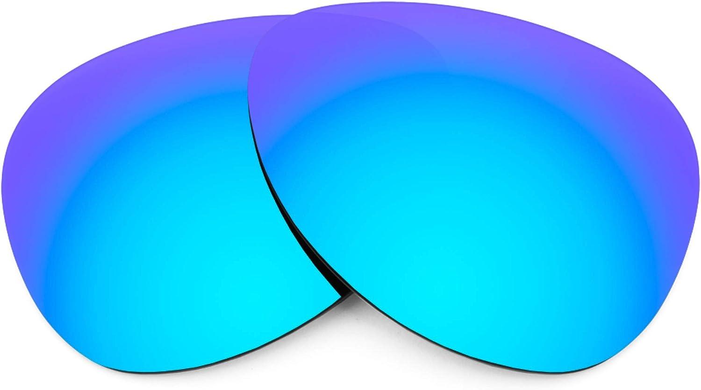 Revant Verres de Rechange pour Oakley Kickback - Compatibles avec les Lunettes de Soleil Oakley Kickback Bleu Glacier Mirrorshield - Non Polarisés