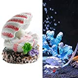 OWIKAR Aquarium Decor Air Bubble Stone Oxygen Pump Resin Crafts For Aquarium Fish Tank Ornament Decoration Small Sizes (Pearl Shell)