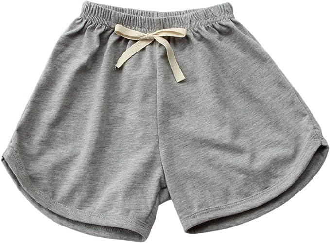 Hongyuangl Pantalones Cortos de Verano para 1-7 años Chica Niños ...