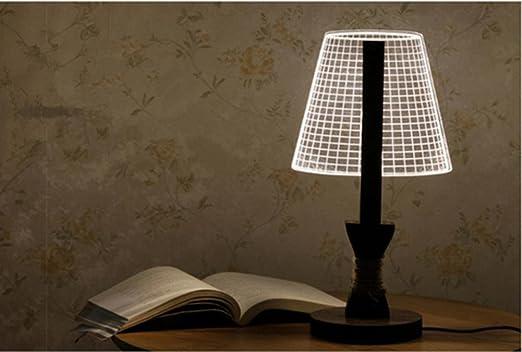Lámpara de Mesa Lámpara de Escritorio 3D sombra lámpara de ...