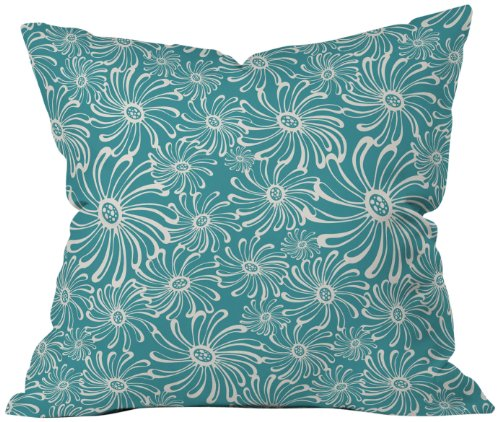 Deny Designs Heather Dutton Bursting Bloom Peacock Throw Pillow, 26 x 26