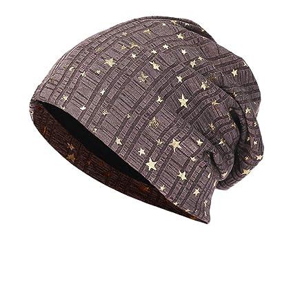 7a94daf371835a Amazon.com: Sttech1 Winter Cap, Men Women Star Warm Crochet Knit Ski Beanie  Skull Slouchy Caps Hat (Khaki): Health & Personal Care