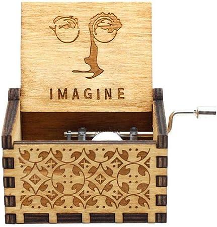 FGHFG Caja de Música Imagine Hape Giratorio Caja Musical de Manivela Antigua Manivela Artesanía Decoración del Hogar Regalos para Cumpleaños C: Amazon.es: Hogar