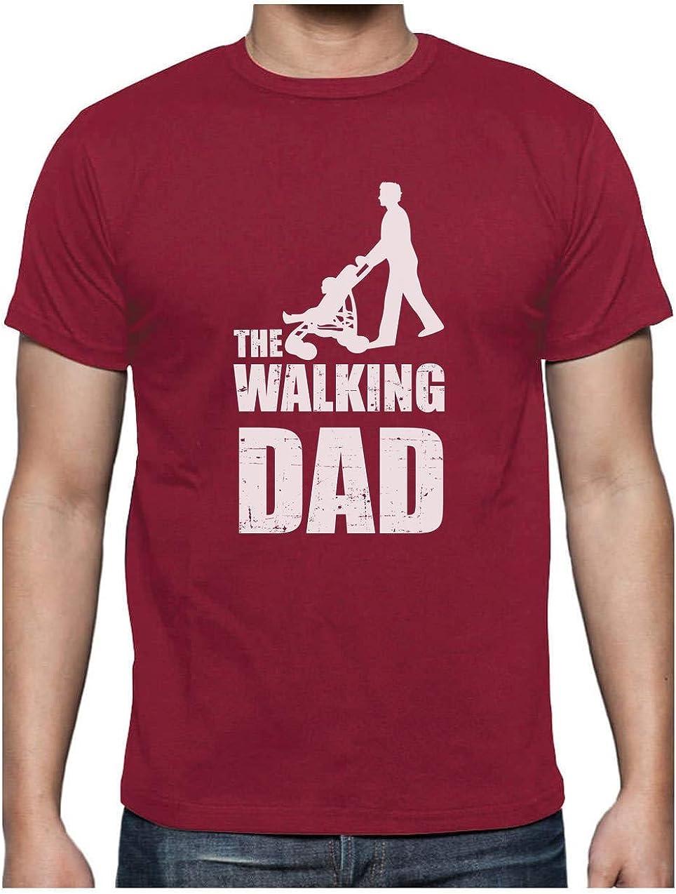 Regalos Originales para Padres Primerizos Green Turtle T-Shirts Camiseta para Hombre The Walking Dad