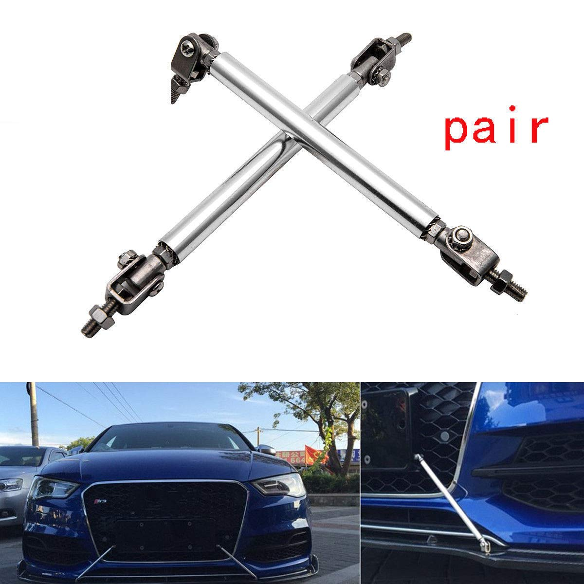 Splitter Rod,MASO 2 x Vehicle Adjustable Front Bumper Strut Rods Support Bars Tools Blue