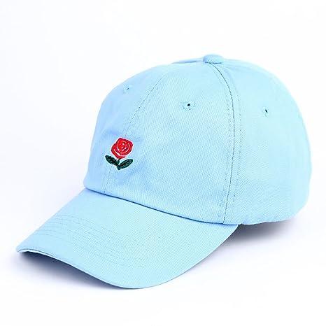 GAOJUAN Gorra De Béisbol Sombrero De Bordado De Rosas Protección Solar Visor De Tiempo Sombrero para
