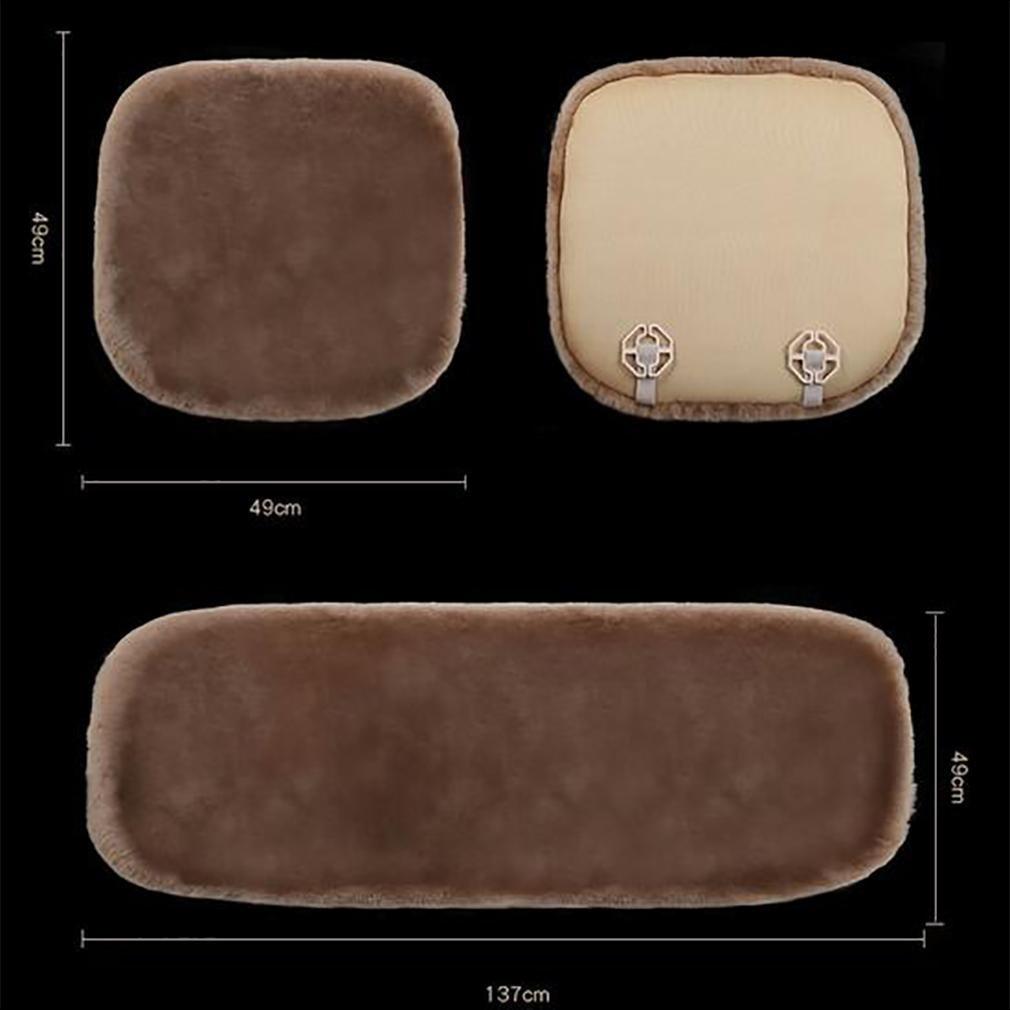 LPY-Genuine Sheepskin+Fibber Universal Car Seat Cushion , teak color by seat cushion (Image #2)
