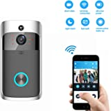 WiFi Wireless Video Doorbell 2 with Camera - Teepao Battery Powered HD Wireless Smart Door Bell / 720P HD Camera/Phone Wake up Camera/Real-Time Video Speaker System/Motion Detection/Night Vision