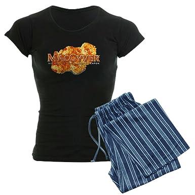 07b4a29fad62 Amazon.com  CafePress - Macgyver Logo - Womens Novelty Cotton Pajama ...