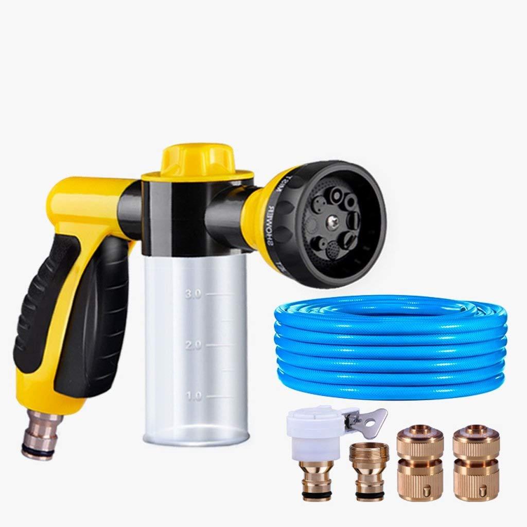 A-Lnice ガーデンホースノズル/ホースノズルヘビーデューティ、フォームノズル、ウォーターホースノズル、高圧ノズル、ガーデニングツール、8スプレーパターン、洗車に最適、クリーナー、散水芝生とペット (色 : A+joint+15m) B07RLSP6X4 A+joint+15m
