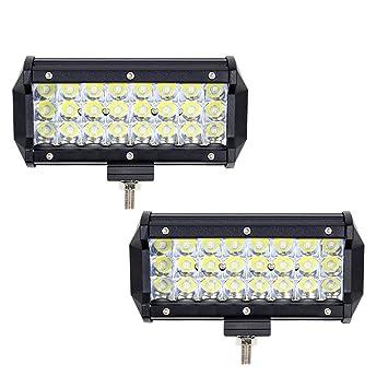 2 x 7 Inch 72W Focos de Coche LED Potentes WANYI Faro de Trabajo LED Off
