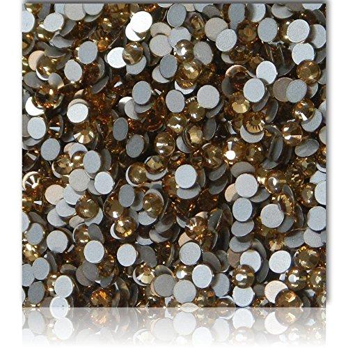 "100% Custom Made (Assorted)1200 Bulk Pieces of Mini Size ""Glue-On"" Flatback Embellishments for Decorating, Made of Acrylic Resin w/ Shiny Iridescent Crafting Rhinestone Crystal Dark Topaz Style{Brown}"