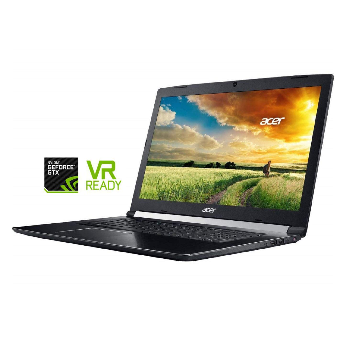 "Acer Aspire7プレミアム17.3"" ゲームと商務ノートPC(intel第8世代コーヒー湖i7-8750H 6コア、32GBRAM、2TBSATA SSD、17.3"" FHD(1920×1080)、GeForce GTX 1060 、Windows 10ホーム)VR Ready B07GZ49ZFF  2TB SSD 2TB SSD