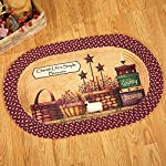 Collections Etc Primitive Country Charm Braided Rug, Brown