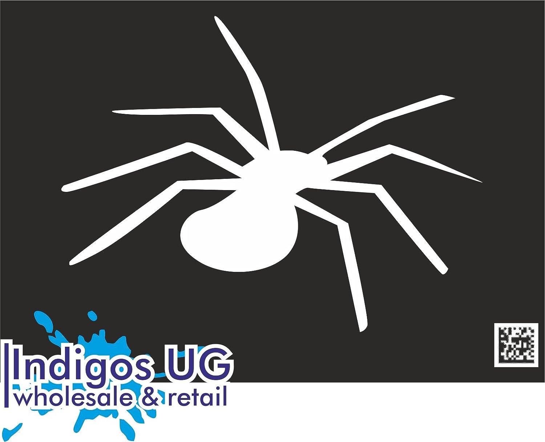 Sticker // Bumper JDM // Die cut INDIGOS UG 120x90mm black Spinne Spider Silhouette