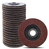 Coceca 20pcs Flap Disc Flap Wheel 4-1 2 Inches for Angle Grinder, Type 27 Aluminum Oxide Abrasive(40 60 80 120 Grits)