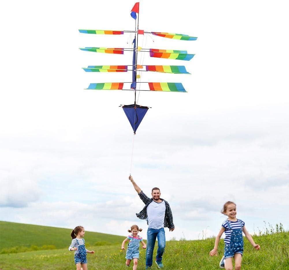 GOTOTOP Kit de velero 3D, Enorme Arco Iris, estéreo, velero, Cometa voladora, Deportes al Aire Libre, niños, Actividades de Juego, Gran Regalo