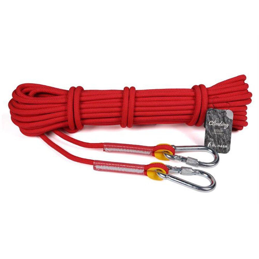 Rouge LDFN Rock Escalade Corde Sécurité Extérieure Maison Corde De Sauvetage Résistant à L'usure Résistant à L'eau,rouge-10m6mm 50m6mm