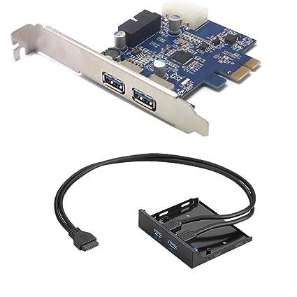 Sienoc 2 puertos USB3.0 Tarjeta PCI para placa base compatible con ...
