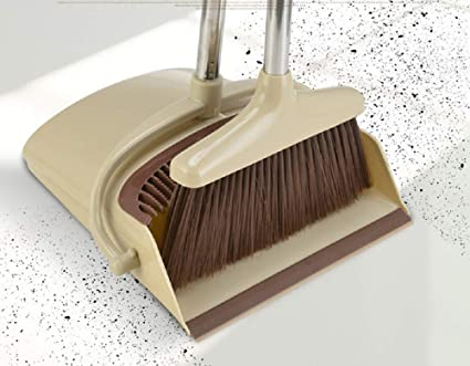 Plastic Besom Dustpan Suit Combination Sweep Hair No Sticking Single Folding Broom Household Wind Proof Broom