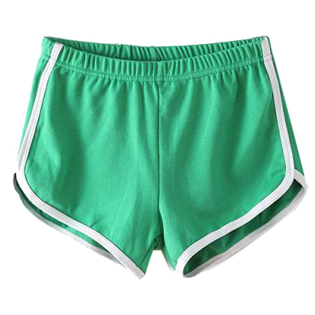 92c8e67fb7eb Zoylink Women s Sport Shorts Slim Cotton Running Shorts Workout Shorts for  Dancing Yoga Green Pink One Size  Amazon.in  Clothing   Accessories